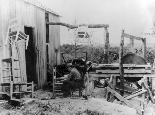 appalachians chair caning 1930s