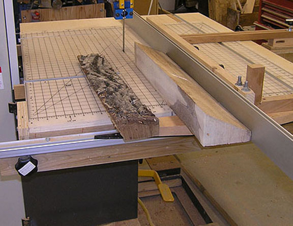 bandsaw cutting english walnut #2
