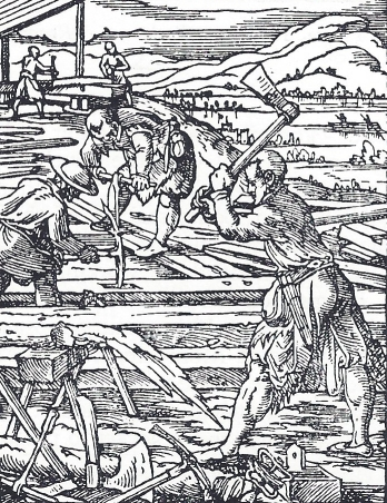 carpenters at work 16th-century