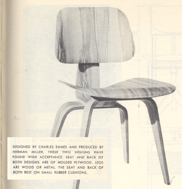 charles eames molded plywood chair