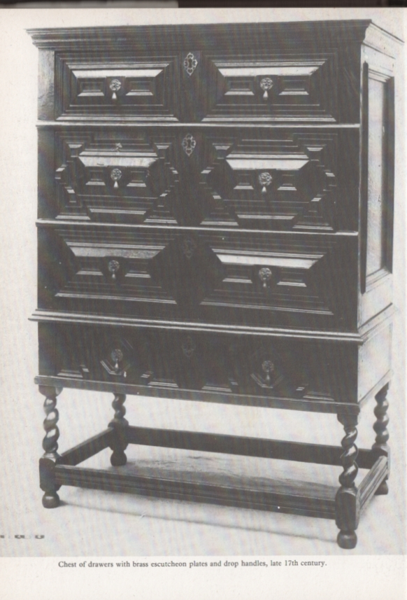 chest of drawers late 17th-c