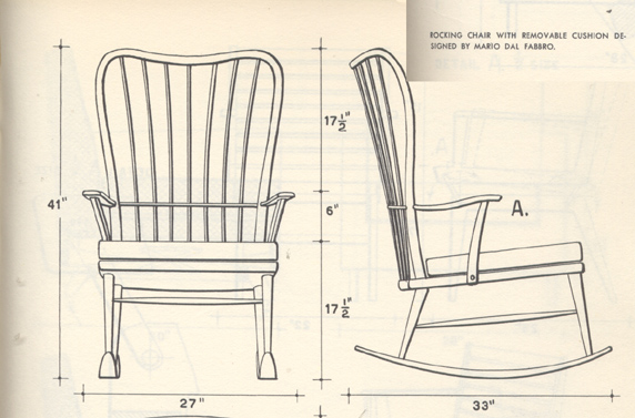 dal fabbro rocking chair 1949