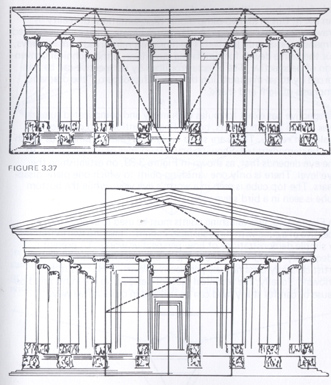 golden rectangle in Greek Parthenon