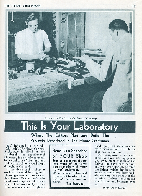 home craftsman your lab 1st 1931