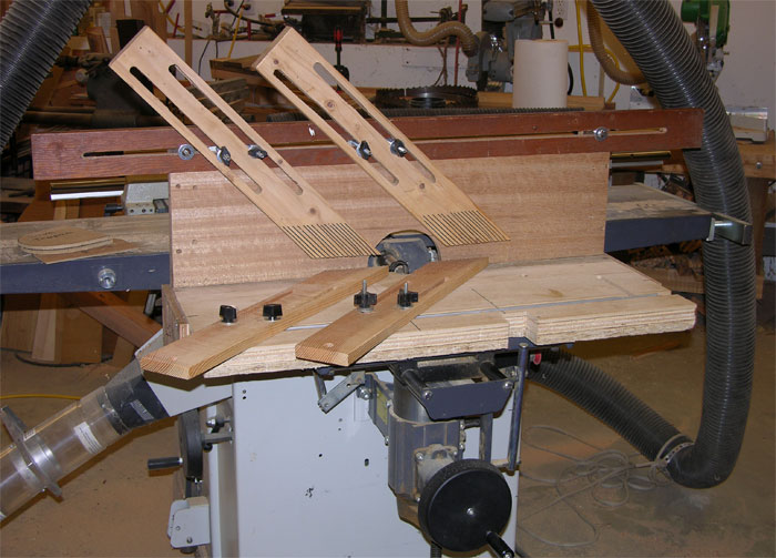 horizontal mortiser shaper fixture set-up