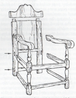 typical use of mortise and tenon joint in British Renaissance