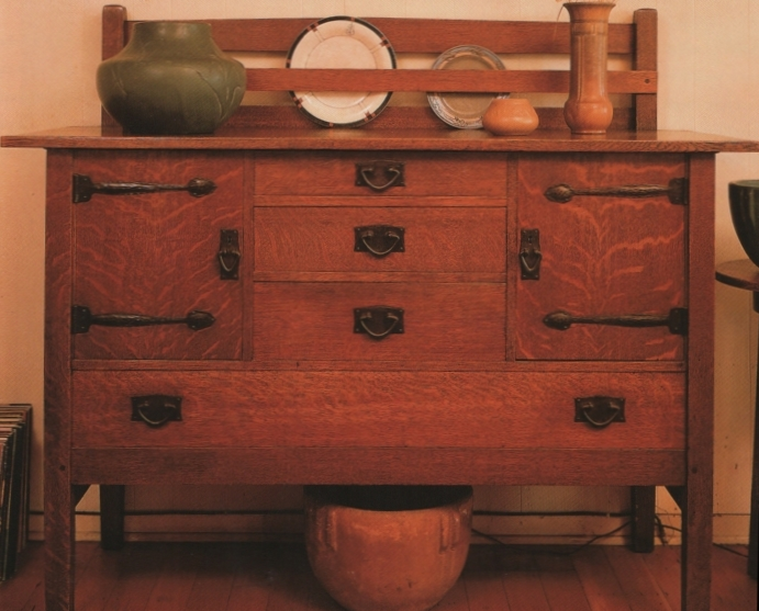 quarter-sawn oak sideboard