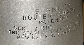 serial number for stanley-carter router shaper