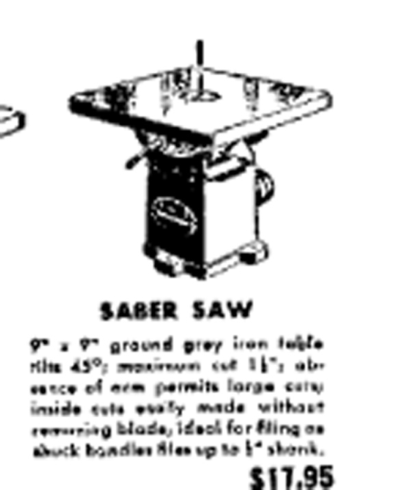saber saw in newspaper 1951