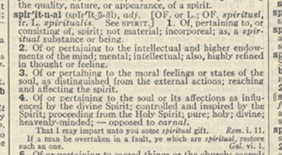 spiritual from webster's 2d 1952