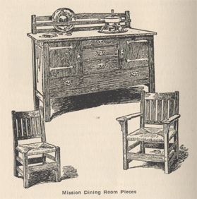 stickley mission dining room pieces