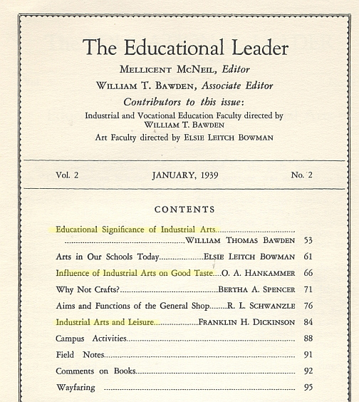 the educational leader toc 1939