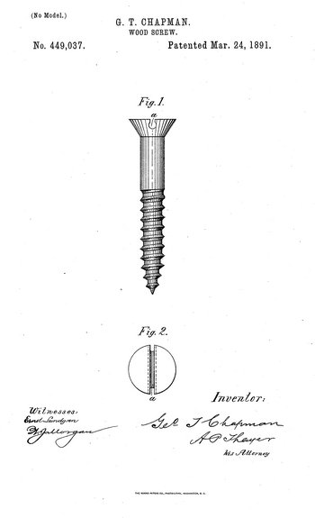 the wood screw