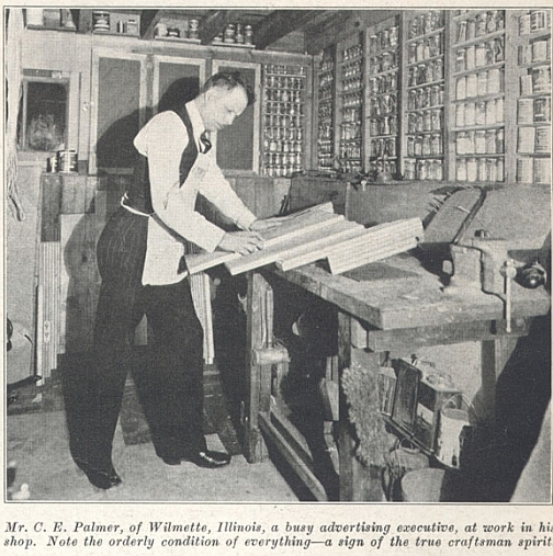 workshop in popular homecraft 1930